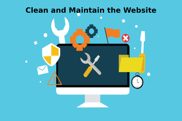 Clean and Maintain Website