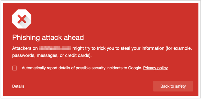 Google Chorme Alerts – Site has been hacked
